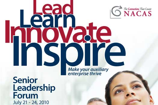 Lead Learn Innovate Inspire - Senior Leadership Forum Postcard