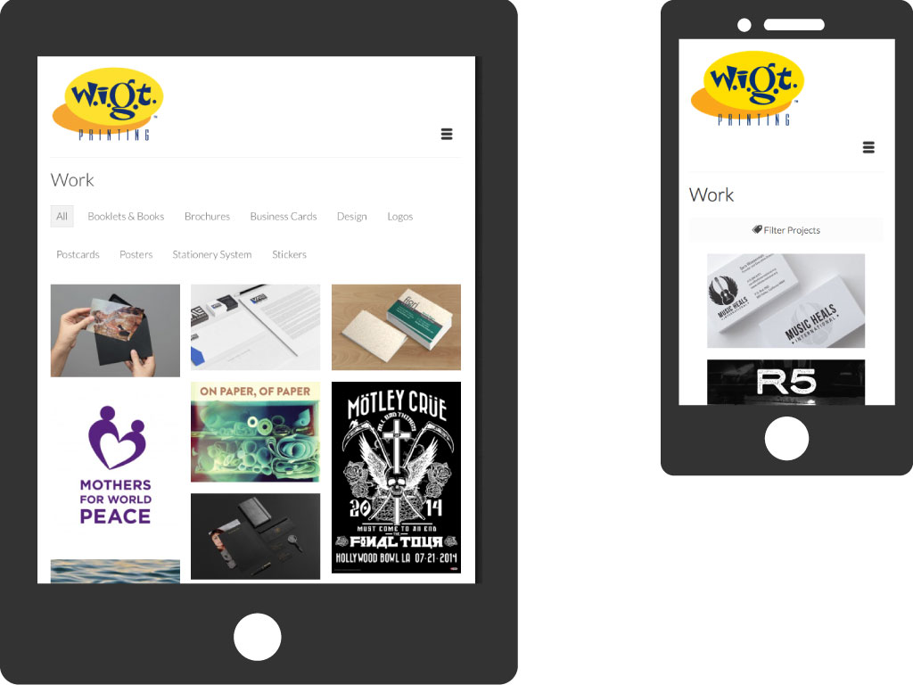 WIGT Website on mobile devices
